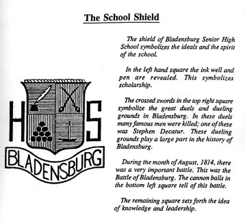 bladensburg high school class of 1959 school shield